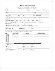 Coaches Certification Application - United States Ju-Jitsu Federation