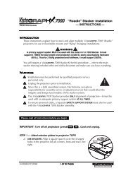 Introduction Warnings - Christie Digital Systems