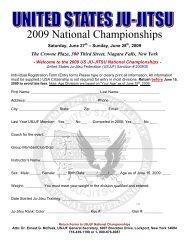 National Championships Entry Form - United States Ju-Jitsu ...