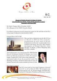 Report of Sheikh Ahmad Al-Fahad Al-Sabah, Vice President of ...
