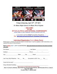 Download Entry Form Here - United States Ju-Jitsu Federation