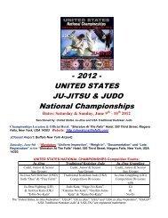 - 2012 - UNITED STATES JU-JITSU & JUDO National Championships