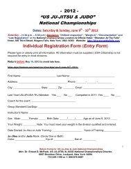 """""""US JU-JITSU & JUDO"""" National Championships - United States Ju ..."""