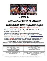 - 2011- US JU-JITSU & JUDO National Championships