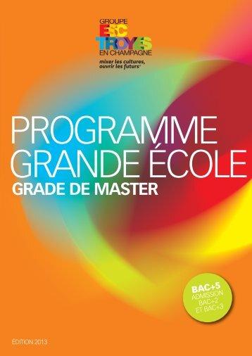 programme grande école - Groupe ESC Troyes