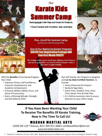 Karate Kids Summer Camp - Magnan Martial Arts