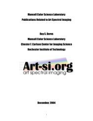 Munsell Color Science Laboratory Publications Related to Art ...