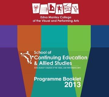 Download the programme brochure [Updated] - Edna Manley ...