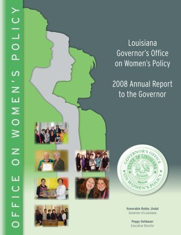 Governor's Office on Women's Policy - Governor Bobby Jindal