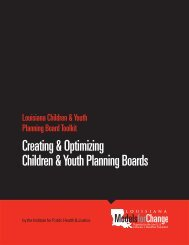 Creating & Optimizing Children & Youth Planning Boards - LSUHSC ...