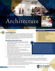 Architecture Program Flyer (.pdf) - Judson University