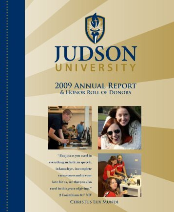 2009 Annual Report - Judson University