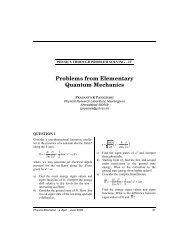 Problems from Elementary Quantum Mechanics