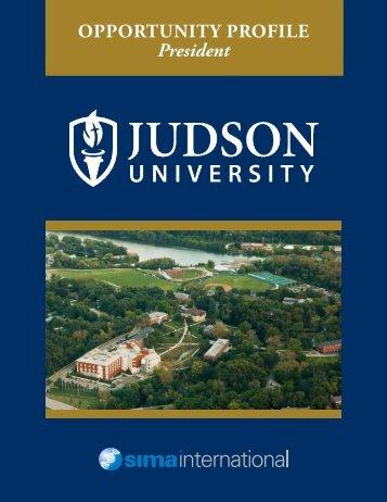 OPPORTUNITY PROFILE President - Judson University