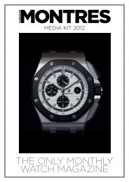 THE ONLY MONTHLY WATCH MAGAZINE - Les Editions Jalou