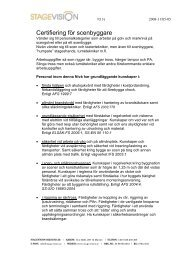 Certifierade scenbyggare - Stagevision