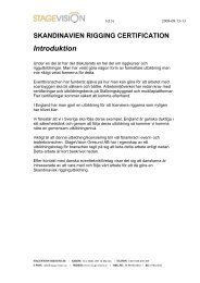 Skandinavien Rigging Certification - Stagevision
