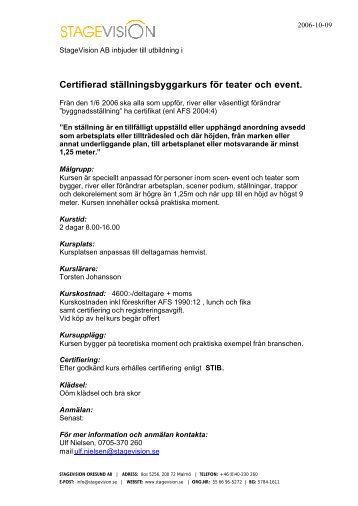 Ladda hem PDF - Stagevision
