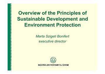 Overview of the Principles of Sustainable Development and ...