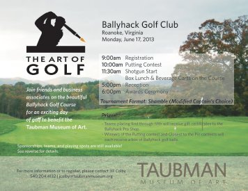 Ballyhack Golf Club - Taubman Museum of Art