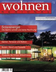 Digitalversion 2-2010 - Wohnen Regional Online Magazin