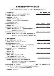 静岡市緊急経済対策の取り組み内容