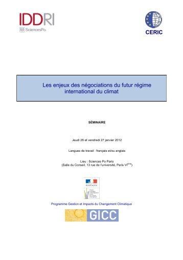 Programme séminaire CERIC-IDDRI