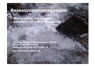 Persönliche Ressource - Wolfsberg