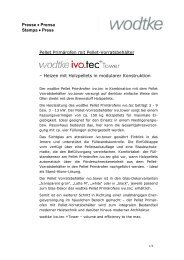 Presse • Prensa Stampa • Press Pellet Primärofen mit Pellet - Wodtke