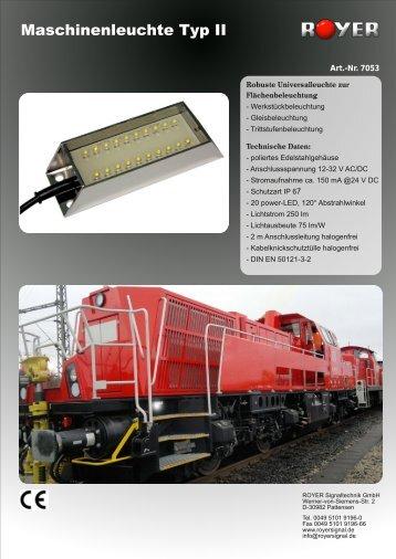 Maschinenleuchte Typ II - Royer Signaltechnik GmbH