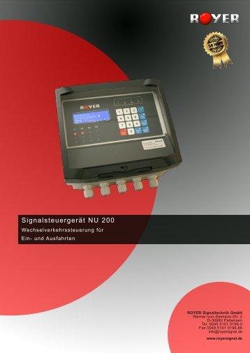 Signalsteuergerät NU 200 - Royer Signaltechnik GmbH