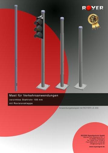 Mast für Verkehrsanwendungen - Royer Signaltechnik GmbH