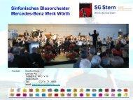 Sinfonisches Blasorchester Mercedes-Benz Werk Wörth