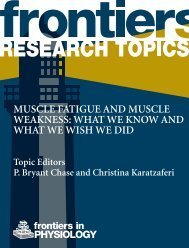 Muscle fatigue and muscle weakness: what we know and ... - Frontiers