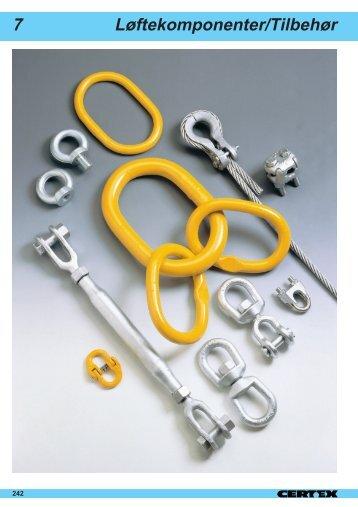 Løftekomponenter/Tilbehør 7 - Certex