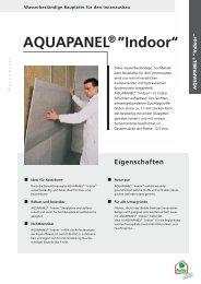 "AQUAPANEL ® ""Indoor"" - Wörpel Bau GmbH"