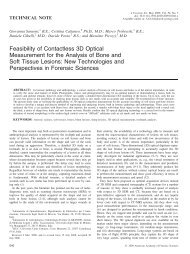 Feasibility of Contactless 3D Optical Measurement for the ... - Optolab