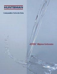 JEFFSOL® alkylene carbonates comparative solvents ... - Huntsman