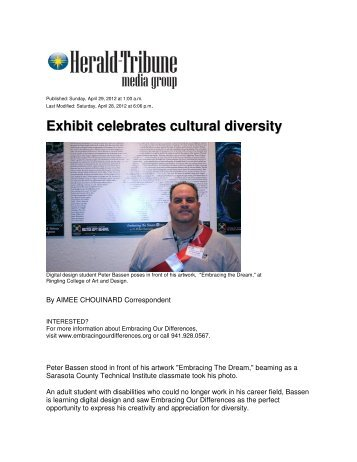 Exhibit celebrates cultural diversity - Embracing Our Differences