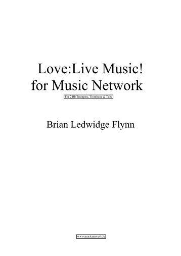 Brass Quartet Score - Love:Live Music