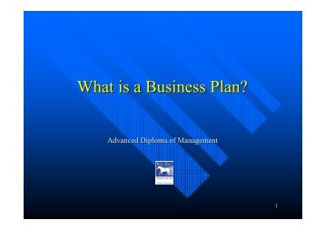 What is a Business Plan? - MM Creative Business