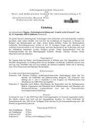 Einladung - AG Eisenzeit