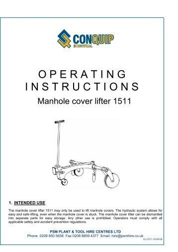Hydraulic Manhole Lifter - Andara tools & Plant Hire