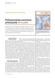 Pohjoismaista psoriasis- yhteistyötä 20 vuotta - Psoriasisliitto