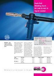 Push-Pull Welding Torch PP 240 D/401 D liquid cooled