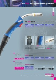 MB EVO MIG/MAG Welding Torches - Rapid Welding and Industrial ...