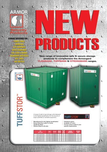 storage solutions for... • power tools • chemicals • site equipment ...