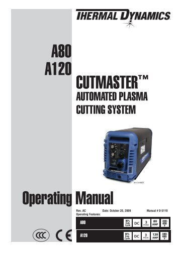 A120 CutmASteR™ operating manual A80 - Rapid Welding and ...