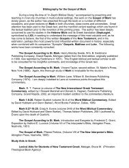 Mark Bibliography - In Depth Bible Commentaries