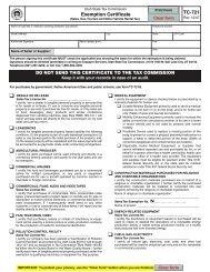 Tax Exempt Form - Nicholas & Company Customer Portal